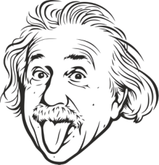 Albert Einstein Free CDR Vectors Art