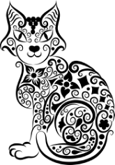 Cat Vector Line Art Free CDR Vectors Art
