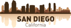 San Diego Skyline Free CDR Vectors Art