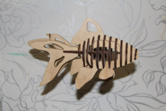 Fish 3D Puzzle Laser cut Pattern Free CDR Vectors Art