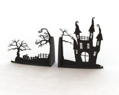 Horror Book Support Laser Cut Free CDR Vectors Art