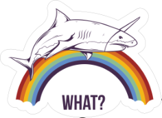 What Shark Sticker Free CDR Vectors Art