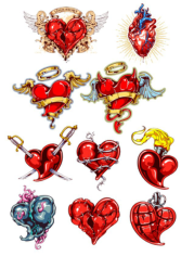 Heart Tatoo Free CDR Vectors Art