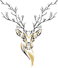 Deer Sketch Free CDR Vectors Art