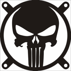 The Punisher Fangrill 120mm X 120mm Free CDR Vectors Art