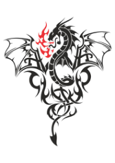 Baby Dragon Tattoo Free CDR Vectors Art