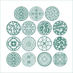 Round Ornaments Free CDR Vectors Art