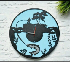 Clock For The Fisherman Free CDR Vectors Art