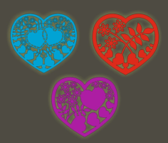 Laser Cutting Hearts Free CDR Vectors Art