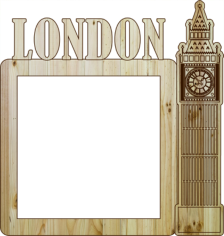 Laser Cut Photo Frame London Free CDR Vectors Art