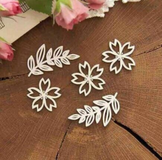 Decoration Flowers Laser Cut Free CDR Vectors Art