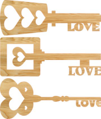 Heart Key Love Keys Free CDR Vectors Art