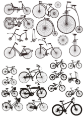 Bicycles Stickers Free CDR Vectors Art