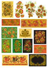 Khokhloma Traditional Russian Vector Seamless Pattern Free CDR Vectors Art