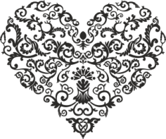 Shaped Heart Free CDR Vectors Art