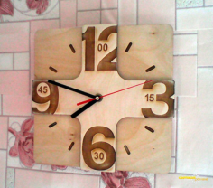 Laser Cutting Wall Clock Free CDR Vectors Art