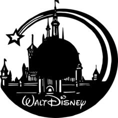 Walt Disney Vinyl Wall Clock Free CDR Vectors Art