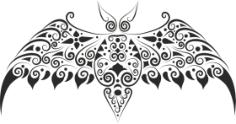 Bat Stencil Free CDR Vectors Art