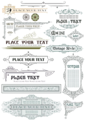Vintage Decor Elements Free CDR Vectors Art