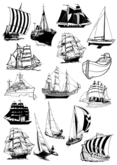Sail Ships Free CDR Vectors Art