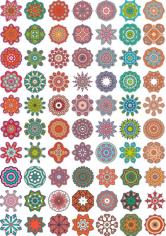 Ornamental colorful vector mandala Free CDR Vectors Art