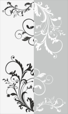 Decorative Floral Pattern Sandblast Pattern Free CDR Vectors Art