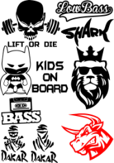 Vinyl Stickers on Car Vector Pack Free CDR Vectors Art