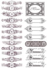 Elegant Vintage Decor Free CDR Vectors Art