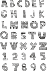 Handdrawn Ornamented Alphabet Pack Free CDR Vectors Art