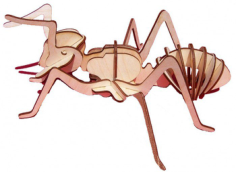 Laser cut Insect Ant Free CDR Vectors Art