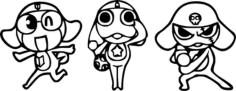 Keroro Gunsou Sticker Free CDR Vectors Art