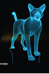Cat 3D Lamp Vector Model Free CDR Vectors Art