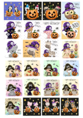 Cute Halloween Character Collection Free CDR Vectors Art