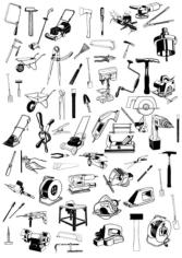Tools Icons Set Sketch Free CDR Vectors Art