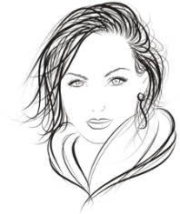 Face of Pretty Woman Logo Free CDR Vectors Art