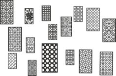 Collection Black White Geometric Seamless Patterns Free CDR Vectors Art