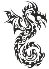 Dragon totem Tattoo Sticker Free CDR Vectors Art