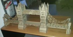 London Bridge 3D Puzzle Model Laser Cut Free CDR Vectors Art