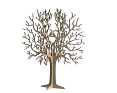 Birds Tree Jewelry Stand 3mm Free CDR Vectors Art