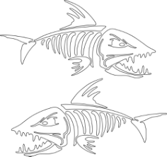 Fish Skeleton Free CDR Vectors Art