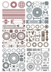 Doodles border decor elements Free CDR Vectors Art