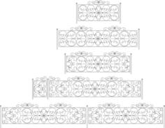 Decorative Black White Fences Set Free CDR Vectors Art