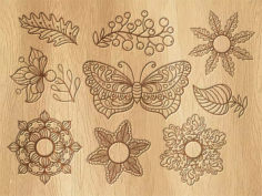 Vintage butterfly Decor Free CDR Vectors Art