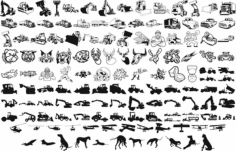Heavy Equipment Vector Art Silhouettes Free CDR Vectors Art