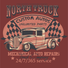 North Truck Design Free CDR Vectors Art