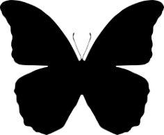 Butterfly Silhouettes Free CDR Vectors Art