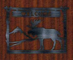 Plate Welcome Deer Free CDR Vectors Art