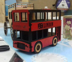 London Bus Laser Cut Free CDR Vectors Art