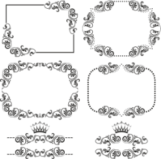 Ornament Border Set Free CDR Vectors Art