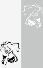 Miss Beauty Sandblast Pattern Free CDR Vectors Art